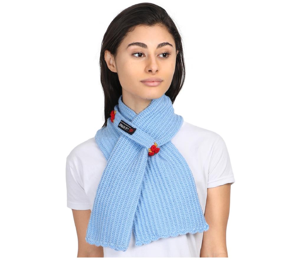 Handmade Woolen Kc Muffler Blue Kcstore